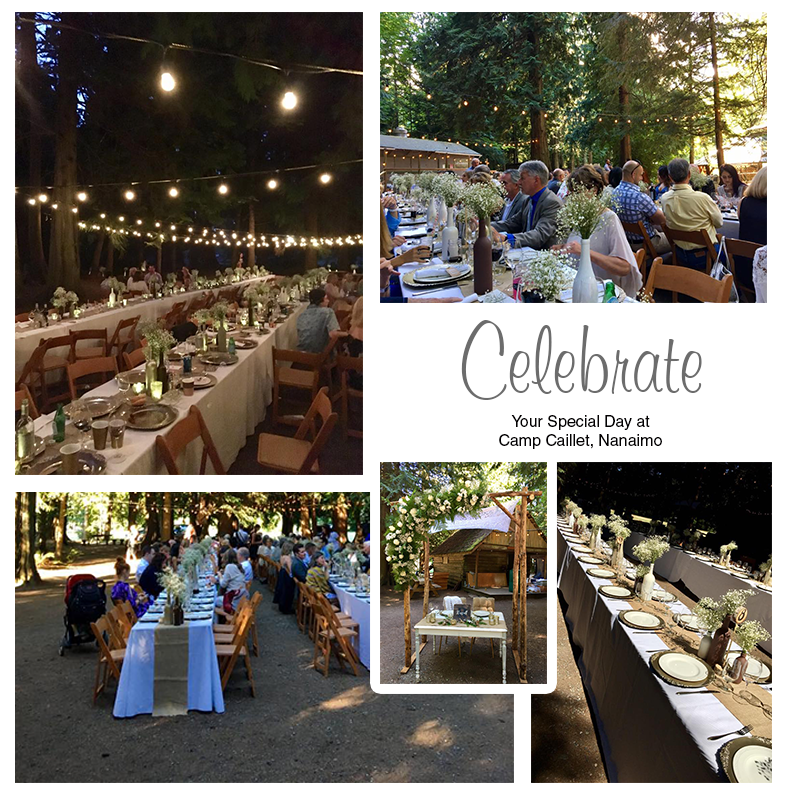 Celebrate your Special Day at Camp Caillet, Nanaimo