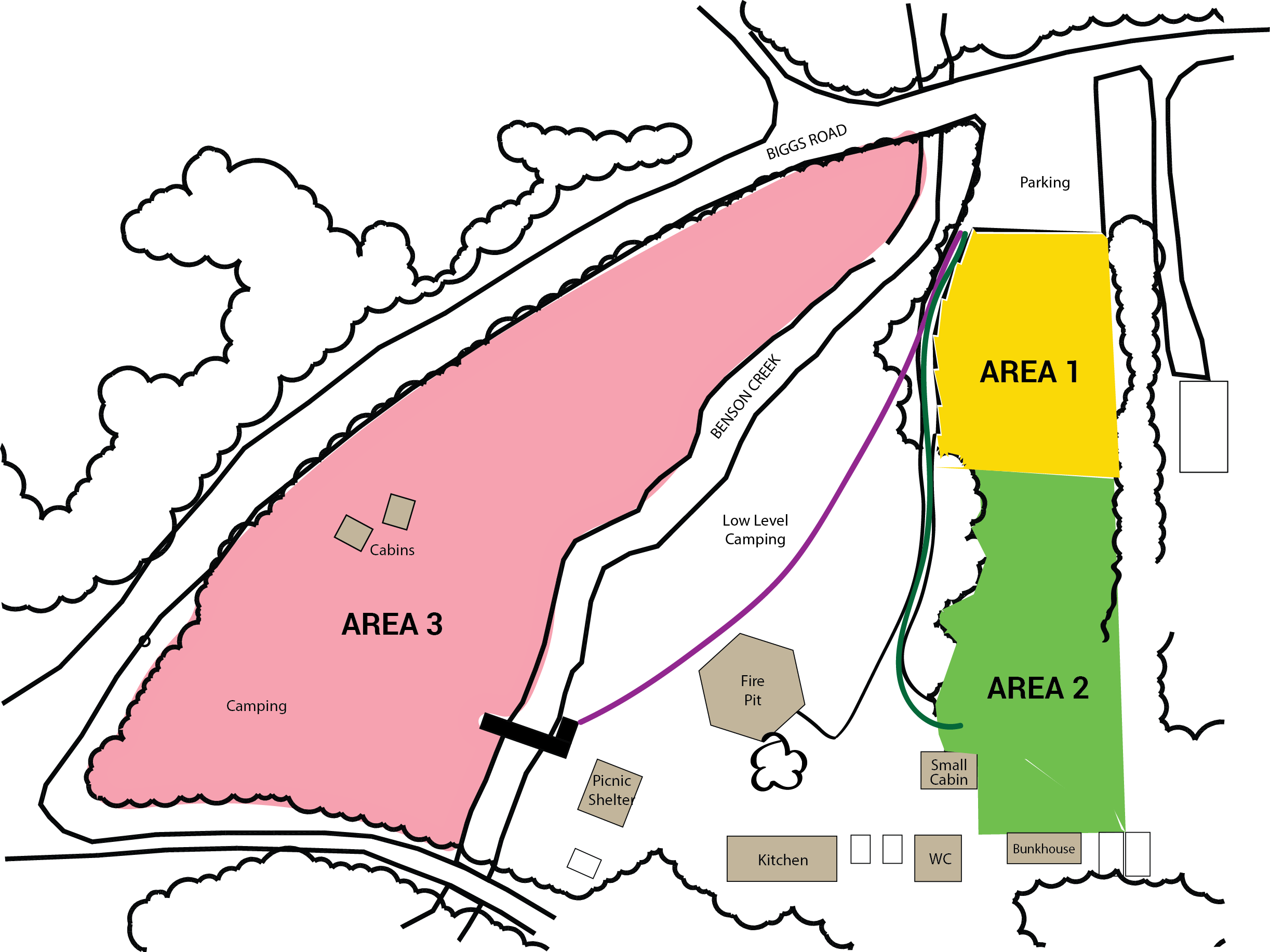 Camp Caillet - Phase 2 reopening camp zones